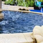 """""""Pool-Side Water Fountain"""" by sandrapenadeortiz"""