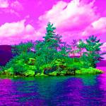 """Psychedelic Rock Island"" by podspics"