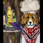"""Beagle Chef"" by ArtbyJoanne"