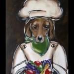 """""""Dachshund Chef"""" by ArtbyJoanne"""