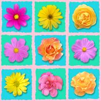 Patchwork flowers