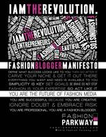 Fashion Blogger Manifesto