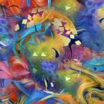 """Fascination Art Print Colorful Wall Decor by Julee"" by JuleezArt"
