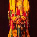 """Native American Indian Portrait-Collage-Red/Yellow"" by Marysvision"