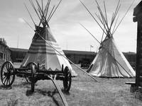 Native Tipi - Black And White Photography