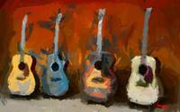 Four Guitars