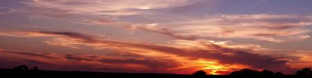 Texas Hill Country: Panorama Sunset