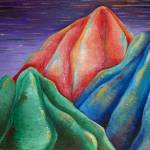 """Mountain Trio"" by AmyElizabethArt"