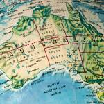 """Australia on a Globe"" by WilshireImages"