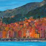 """Vieux Menton"" by Jackie-Sherwood-Artist"