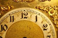 Golden Clock Face