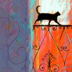 """Cat on the railing"" by Cardona"