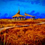 """Hut By tThe Lake"" by CDBDesign"