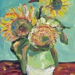 """3 Sunflowers Like Van Gogh"" by SpohnStudio"