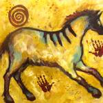 """New Lascaux Primitive Horse"" by carolsuzanne"