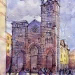 """""""Cattedrale di Genova- schizzo a colori"""" by lucamassonedisegni"""