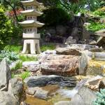 """Japanese Garden Waterfall and Lantern"" by Marysvision"