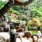 """Japanese Garden statues and waterfall"" by Marysvision"