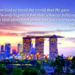 """John 3:16, Cityscape Singapore Marina"" by sghomedeco"