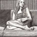 """Donna On Her Sofa"" by DBCArtwork"