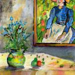 """Homage to Vincent Still Life with Peasant Girl"" by GinetteCallaway"