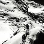 """Climbers on Cosmiques Arete, Aiguille du Midi"" by ExposedPlanet"