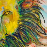 Young Lion Art Prints & Posters by Amy Elizabeth Moore
