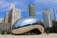 Chicago Bean and Skyline