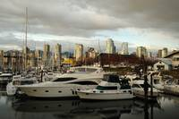 Yachts in the bay of Granville Island