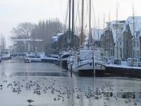 Winter canal in Holland