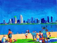 Beach at Ferry Landing, Coronado Island Art
