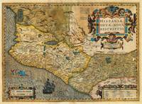 1606 Hondius and Mercator Map of Mexico Geographic