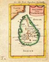 1686 Mallet Map of Ceylon or SriLanka Taprobane