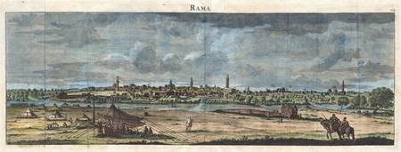 1698 de Bruijin View of Rama Israel