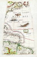 1688 Coronelli Globe Gore Map of NE North America