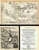 1688 Hennepin First Book and Map of North America
