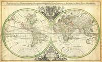 1691 Sanson Map of the World on Hemisphere Project