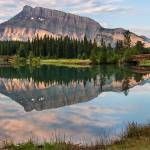 """Rundle Mountain Reflection"" by JamesWheeler"