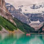 """Lake Louise Canoe"" by JamesWheeler"