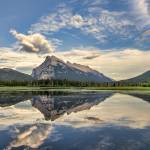 """Vermilion Lakes Perfect Reflection"" by JamesWheeler"