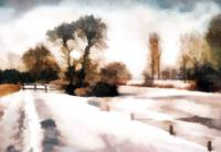 Langley dyke in winter