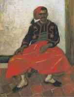The Zouave, sitting by Van Gogh