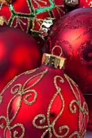 Red fancy Christmas ornament