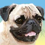 """Our Friend the Pug"" by diane"