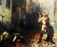 Belgian  Ferdinand Pauwels  The plague in Ypres