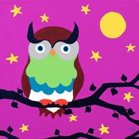 Owl on Pink