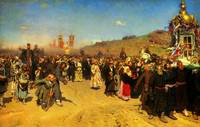 ilya repin religious procession in kursk province