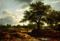 Jacob van Ruisdael   Landscape with a Village in