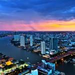 """Bangkok Nightscape"" by kapuk"