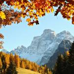 """Autumn natural frames for dolomiti (orizontal)"" by FrancescoMalpensi"